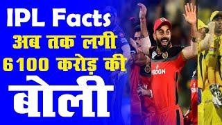 IPL Facts: अब तक लगी 6100 करोड़ की बोली | 485 भारतीय क्रिकेटरों को मिले 3400 करोड़ #IPL2021