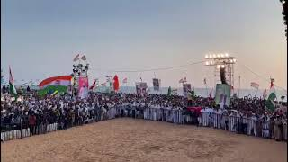 Shri Rahul Gandhi received a rousing welcome at Shangumugham Beach, Thiruvananthapuram