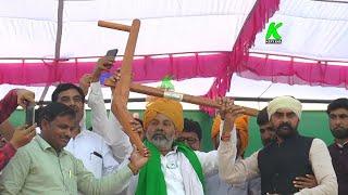 Nohar के किसानों ने पलकों पर बैठाया राकेश टिकैत को, पगडी, बैलगाडी,हल से किया सम्मानित l RakeshTikait