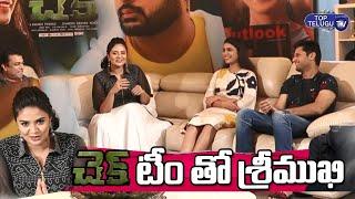 LIVE : Sreemukhi With Check Movie Team | Hero Nithin | Priya Prakash Varrier | Top Telugu TV