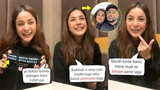Shehnazz Gill Very Cute Video Talking About Badshah  INSTA live from Canada
