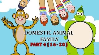 Finger Family DOMESTIC ANIMAL Songs For Children | Daddy Finger Cartoon Animation Nursery Rhymes | 4