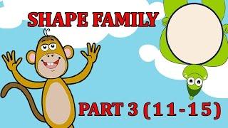 Finger Family SHAPE Songs For Children | Daddy Finger Cartoon Animation Nursery Rhymes | 3