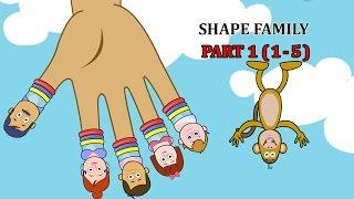 Finger Family SHAPE Songs For Children | Daddy Finger Cartoon Animation Nursery Rhymes | 1