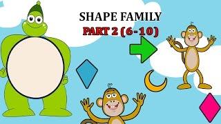 Finger Family SHAPE Songs For Children | Daddy Finger Cartoon Animation Nursery Rhymes | 2