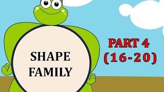 Finger Family SHAPE Songs For Children | Daddy Finger Cartoon Animation Nursery Rhymes | 4
