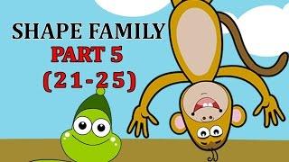 Finger Family SHAPE Songs For Children | Daddy Finger Cartoon Animation Nursery Rhymes | 5