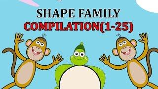 Finger Family SHAPE Songs For Children | Daddy Finger Cartoon Animation Nursery Rhymes