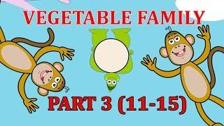 Finger Family VEGETABLE Songs For Children | Daddy Finger Cartoon Animation Nursery Rhymes | 3