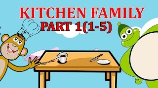 Finger Family KITCHEN Songs For Children | Daddy Finger Cartoon Animation Nursery Rhymes | 1