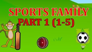 Finger Family SPORTS Songs For Children | Daddy Finger Cartoon Animation Nursery Rhymes | 1