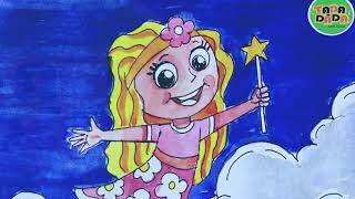 Learn Painting How to draw CUTE NIGHT FAIRY COLOR   STEP BY STEP