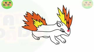 learn how to draw FEURISSON POKEMON  | STEP BY STEP  Boom Boom Kids drawing and painting