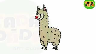 Draw and Paint Animal Alpaca | STEP BY STEP | Boom Boom Kids