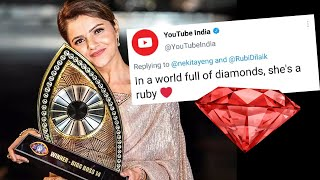 Breaking Youtube Ne Diya Rubina Dilaik Ko Tribute, She Is RUBY | Bigg Boss 14 Winner