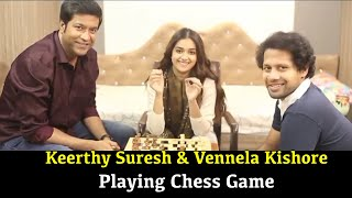 Team Rang De Plays Chess | Keerthi Suresh Fun With Vennela Kishore | BhavaniHD Movies