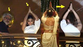 Alia Bhatt Doing Gangubai Kathiawadi style Namaste at Sanjay Leela Bhansali Birthday party
