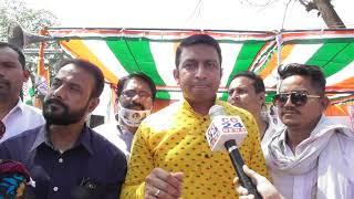 महंगाई विरोधी धरने में भाजपा को विकास तिवारी ने लताड़ा