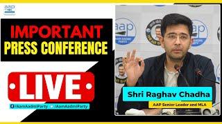 LIVE   Shri Raghav Chadha Vice Chairman of Delhi Jal Board addressing an Important Press Conference