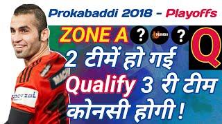Prokabaddi 2018 - Zone A Qualified Teams || By KabaddiGuru