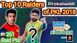 Top 10 Raiders of Prokabaddi season 6 || By KabaddiGuru