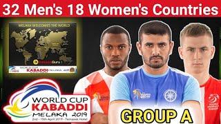 Group Division Of 2019 Kabaddi World Cup || 32 Men's and 17 Women's Teams | KabaddiGuru