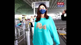 ANANYA PANDEY SPOTTED AT AIRPORT DEPARTURE