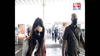 NORA FATEHI SPOTED AT AIRPORT FLYING FROM MUMBAI