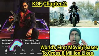 KGF Chapter 2 Becomes World's First & Only Movie Teaser To Cross 8 Million Likes In 52 Days