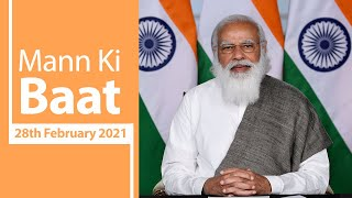 PM Modi interacts with the Nation in Mann Ki Baat | 28th February 2021 | PMO