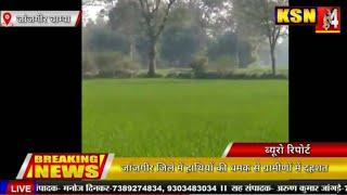 जांजगीर जिले में हाथियों की धमक से ग्रामीणों में दहशत,हाथियों को खदेड़ने में जुटा वन अमला।