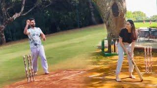 Rahul Vaidya Ki Bowling Par Disha Ne Lagaye Chauke Chakke, Cricket Session