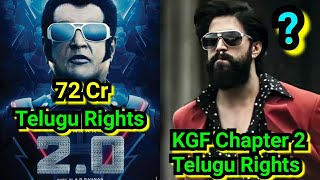 Top 5 Telugu Theatrical Rights For A Non Telugu Films, KGF Chapter 2 To Break 2Point0 Record!