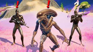 Fortnite Pretending to be Boss Alien (New Bosses)