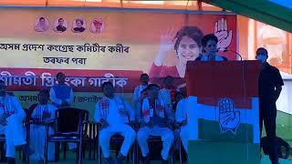 Smt. Priyanka Gandhi meets with senior Congress leaders of North Bank/Upper Assam