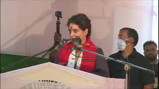 Smt. Priyanka Gandhi launches protest for unemployed youth at Lakhimpur