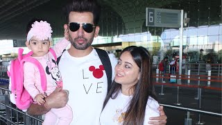 Jay Bhanushali N His Family Spotted At Airport Departure