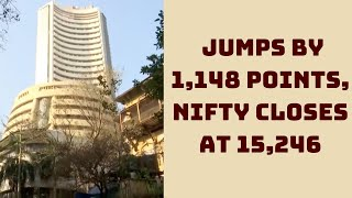 Sensex Jumps By 1,148 Points, Nifty Closes At 15,246 | Catch News