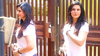 Beautiful Zareen Khan Spotted Outside Her Yoga Class In Khar