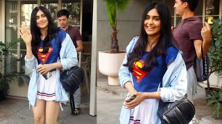 Adah Sharma Snapped Outside Sequel Restaurant At Bandra