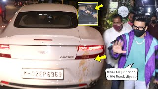 Ranveer Singh Very Angry at fans for spitting paan parag on his Car. Spotted at bandra