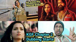 KGF Chapter 2 Dubbing Officially Started, Rocking Star Yash, Srinidhi Shetty, Sanjay Dutt