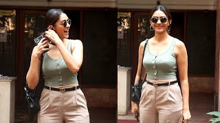 Mrunal Thakur Spotted Outside Excel Office At Khar