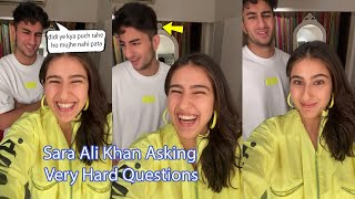 Sara Ali Khan Teasing Brother Ibrahim By Asking Tough Questions Very Funny video Knock-Knock Game