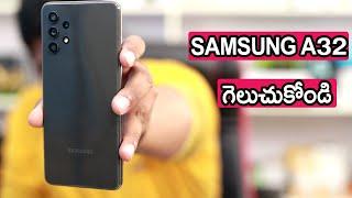 Samsung galaxy A32 unboxing Telugu