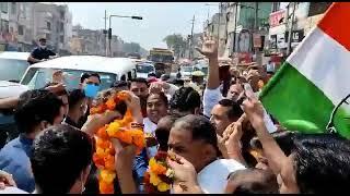 किसान पंचायत के लिए मेरठ के रास्ते कांग्रेस महासचिव श्रीमती प्रियंका गांधी जी का भव्य स्वागत