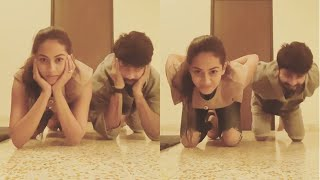 Shahid Kapoor Nailed the new viral 'Centre of Gravity' challenge In front of Wife Mira Rajput