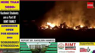 28 shops gutted in Midnight Blaze in Baba Reshi
