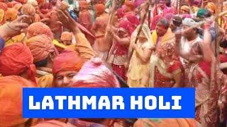 Holi 2021: Tourists, Devotees Flock To UP's Barsana To Celebrate Lathmar Holi | Catch News
