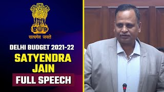 Delhi Health Minister Satyendra Jain Full Speech in Delhi Vidhansabha | Delhi Budget 2021-22
